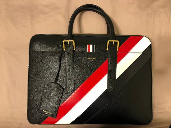 Thom Browne pebble striped briefcase Size ONE SIZE