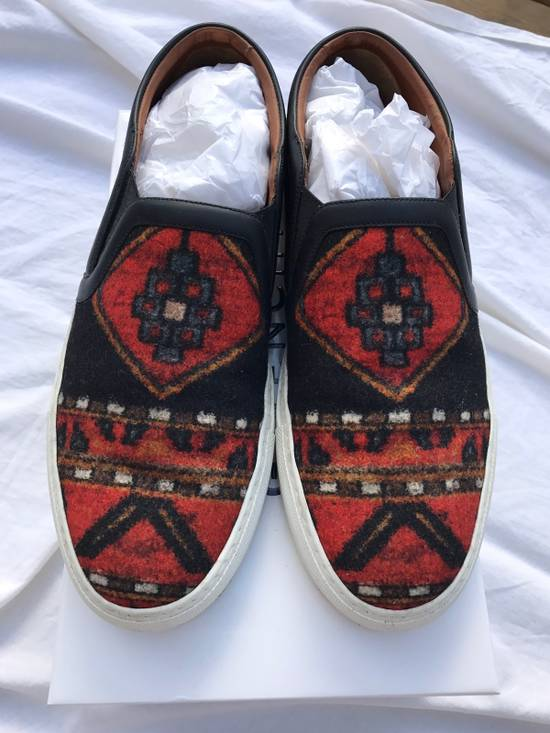 Givenchy FINAL DROP Persian Aztec Mexican slip on skate shoes wool ombre omega black red blue carpet print Size US 11 / EU 44