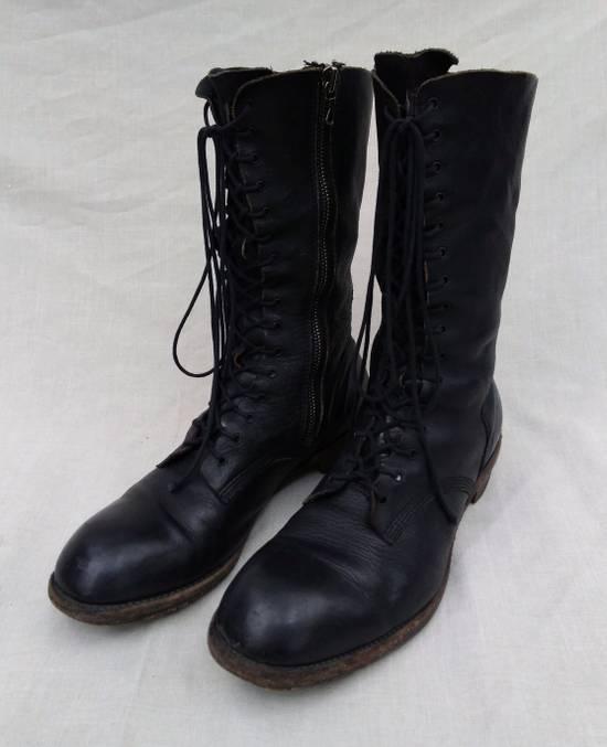 Julius f/w09 Tall Combat Boots Black Size US 11 / EU 44 - 1