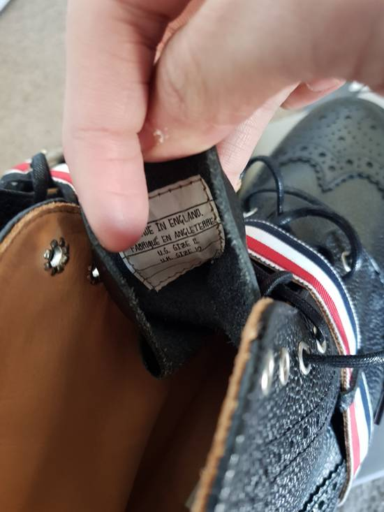 Thom Browne Striped Strap Brogue Boots Size US 11 / EU 44 - 2