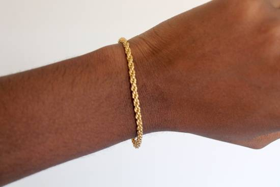 Givenchy Gold Plated Herringbone & Rope Link Bracelets (2) Size ONE SIZE - 4