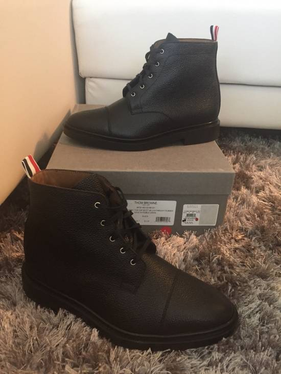 Thom Browne New $790 Pebbled Leather Boots Size US 8 / EU 41