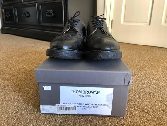 Thom Browne Men's Black Pebble Wingtip Brogue Shoe Size US 12 / EU 45 - 3