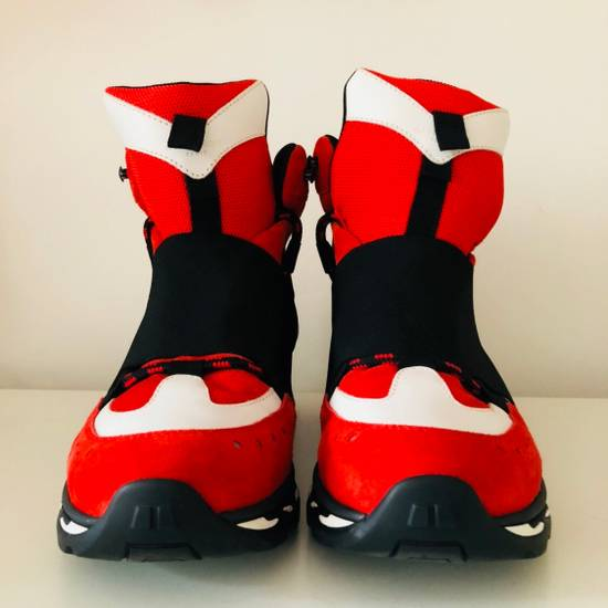 Givenchy Red Suede Hi-Top Sneakers Size US 9.5 / EU 42-43