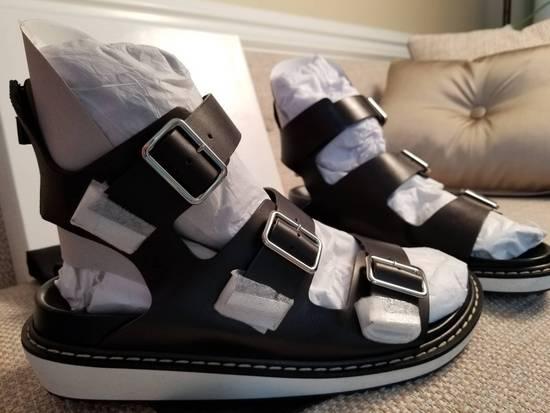 Givenchy Black Leather Multi-Strap Sandals Size US 12 / EU 45 - 5