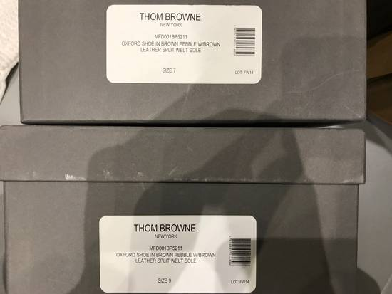 Thom Browne Brown Brogues with Leather Sole in Pebble Grain Size US 7 / EU 40 - 5