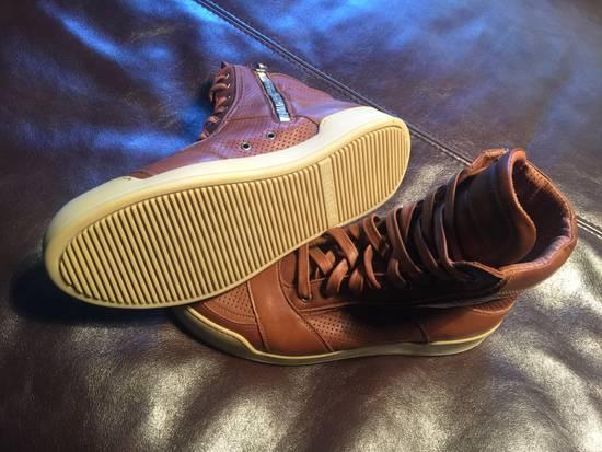Balmain Hi Top Camel Leather Sneakers Size US 9 / EU 42 - 5