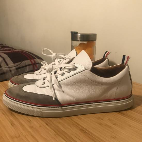 Thom Browne White Toe Cap Trainers Size US 12 / EU 45 - 1