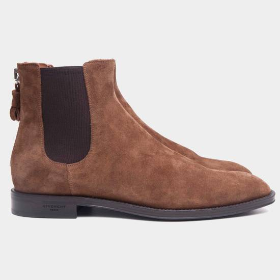 Givenchy Brown Suede Chelsea Boots With Back Zip & Tassel Size US 11 / EU 44 - 1