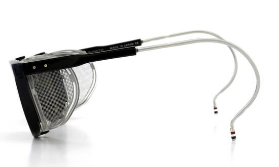 Thom Browne TB-018 Glasses - Black/Matte Silver Size ONE SIZE - 1