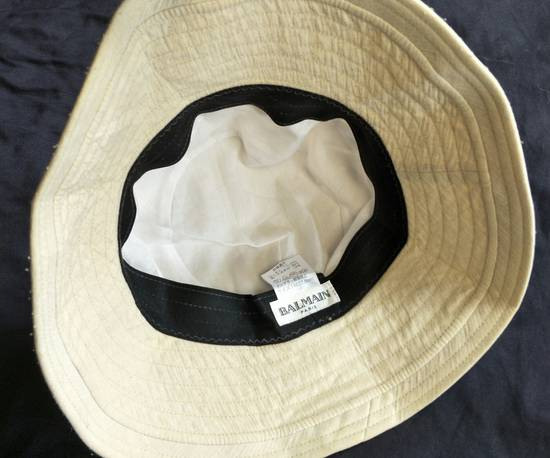 Balmain Authentic Classic Balmain Paris Bucket Hat / Luxury French Designer Monogram Spellout / Good Condition / Medium Size Size ONE SIZE - 4