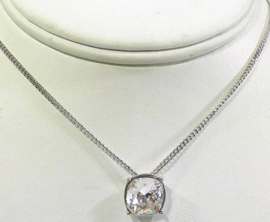 Givenchy Givenchy Silver Crystal Pendant Necklace Jewelry Chain Diamond Size ONE SIZE - 2