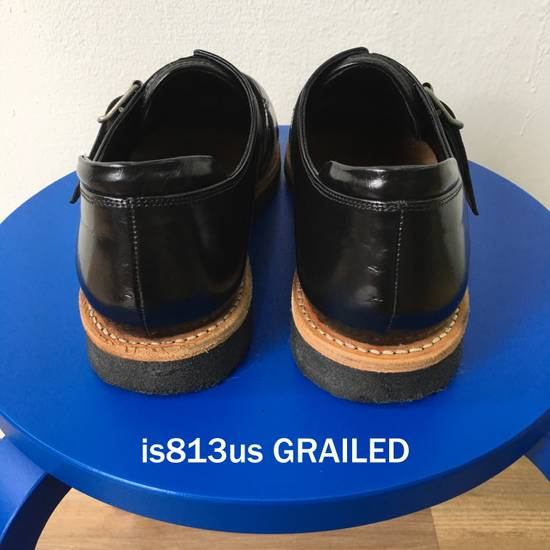 Balmain BALMAIN Black Leather Buckled Steel Capped Shoes Size US 9 / EU 42 - 5
