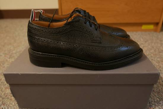 Thom Browne Pebble-Grain Leather Longwing Brogues Size US 8 / EU 41 - 2