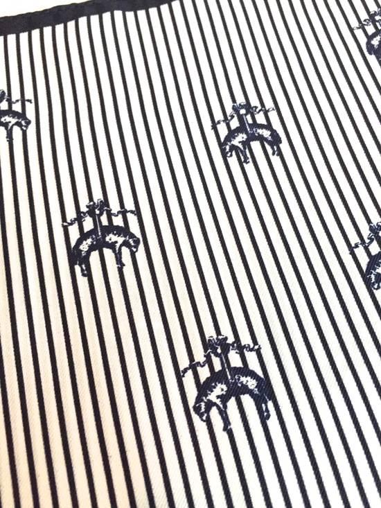Thom Browne Black Fleece Logo Pocket Square NWT Size ONE SIZE - 5