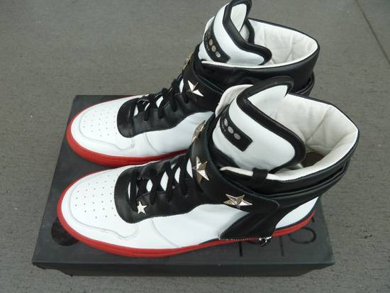 """Givenchy NO GIVENCHY ! D-Side """"Marshall"""" Star Studs Hitops Red/Black/White Size US 10 / EU 43"""