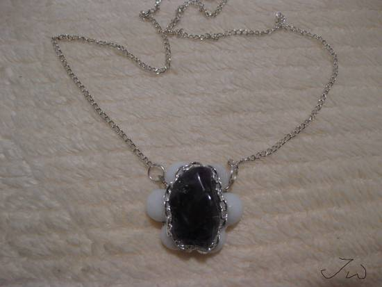 Jw Amethyst Stone Chain Necklace with Beads Size ONE SIZE - 4