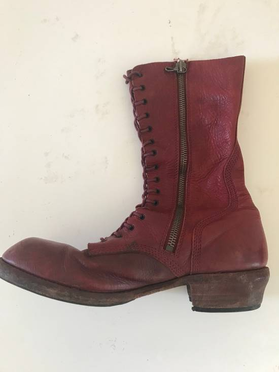 Julius AW09 blood high cut side zips boots Size US 10 / EU 43 - 5