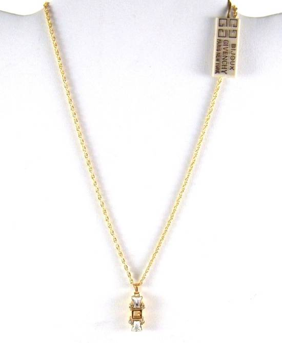 Givenchy Givenchy G Pendant Diamond Necklace Crystal Charm Chain Vintage Size ONE SIZE