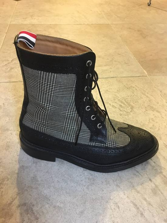 Thom Browne Prince Of Wales Check Boots Size US 8 / EU 41