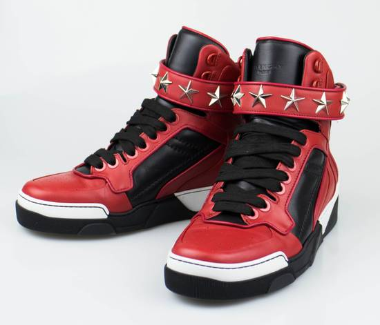 Givenchy Red Leather Hi-Top Fashion Sneakers Size US 7 / EU 40