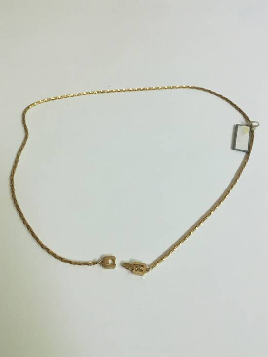 Givenchy 14KGP Givenchy Vintage Gold Razor Style Necklace Size ONE SIZE - 1