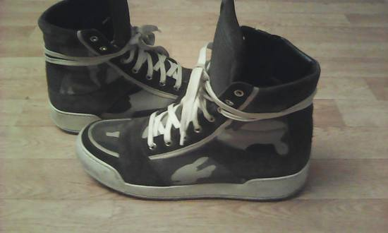 Balmain Green Camo leather Hi Top Balmain Shoes Size US 9 / EU 42