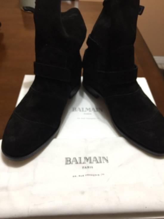 Balmain Black Suede Boots Size US 9 / EU 42 - 4