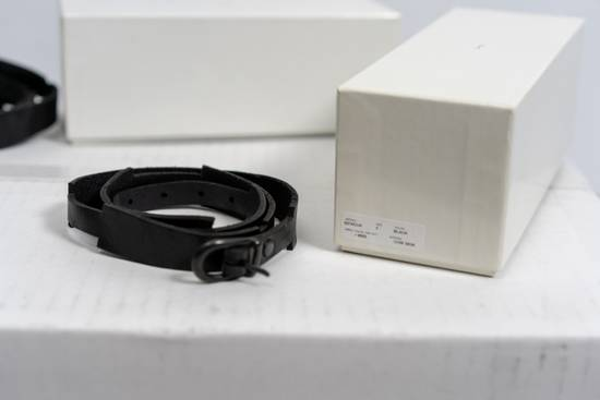 Julius SS16 Black Leather Hand-wrap Bracelet Size ONE SIZE