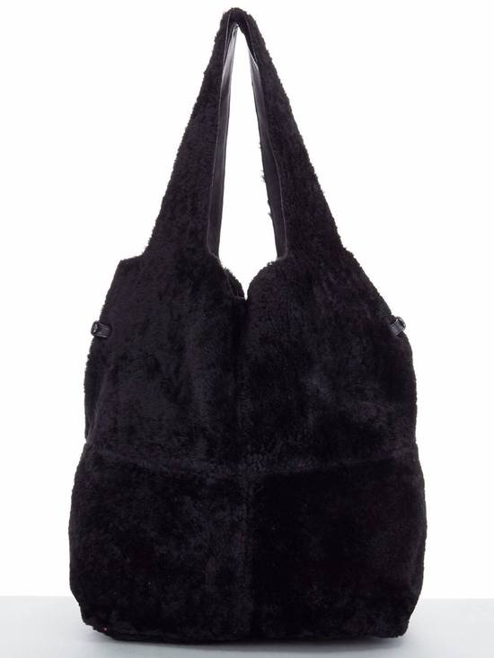 Givenchy GIVENCHY TISCI black reversible leather shearling fur oversize hobo shoulder bag Size ONE SIZE
