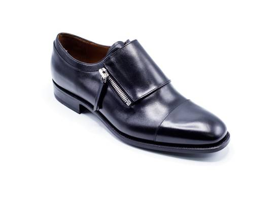 Givenchy Givenchy Maximiliano Black Zipped Monk Strap Loafers Shoes Size US 10 / EU 43