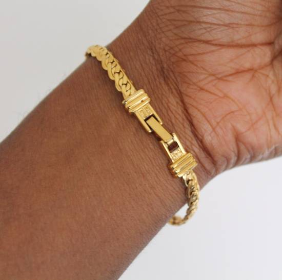 Givenchy Gold Plated Flat Braided Bracelet Size ONE SIZE - 4