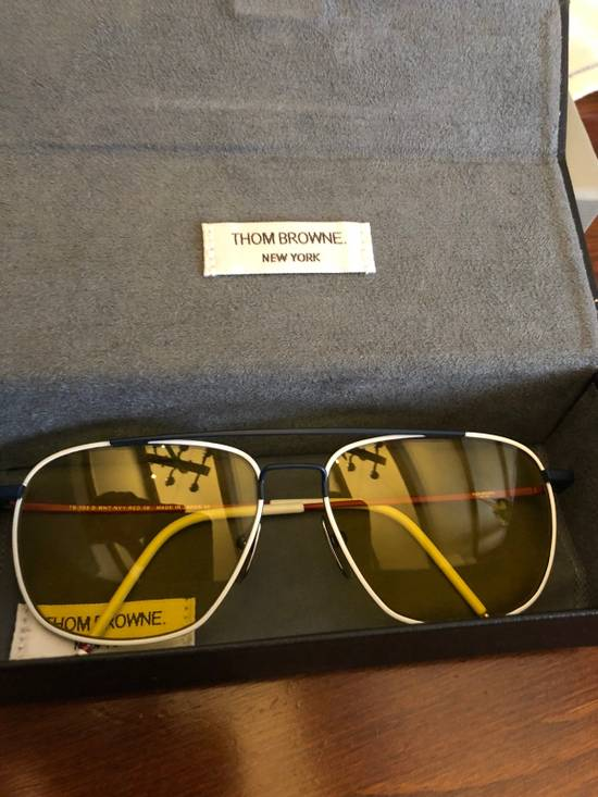 Thom Browne TB 103 B WHITE RED AND NAVY Size ONE SIZE