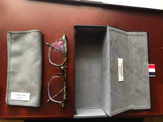Thom Browne Tortoiseshell Acetate TB-406 Glasses Size ONE SIZE - 4