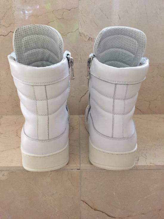 Balmain BALMAIN White Leather High Top Sneakers 100% Authentic Size 45 US 12 Size US 12 / EU 45 - 4