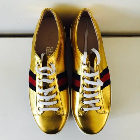 Gucci Gold Rainbow Sneakers Size US 9 / EU 42 - 1