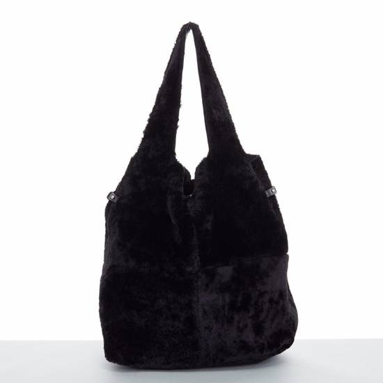 Givenchy GIVENCHY TISCI black reversible leather shearling fur oversize hobo shoulder bag Size ONE SIZE - 7