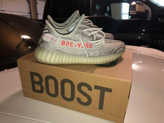 "80173063228b0 Adidas Adidas Yeezy Boost 350 V2 ""Blue Tint"" Used Size 9 - Low-Top ..."