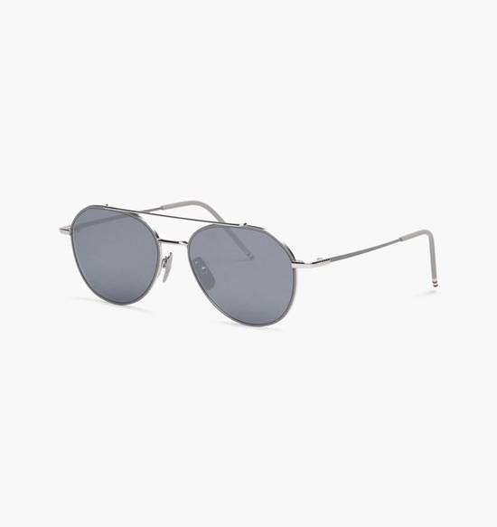 Thom Browne THOM BROWNE TB 105 Sunglasses Silver Grey Mirror New Retails $895 Size ONE SIZE - 4