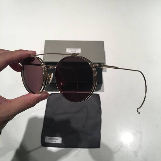 Thom Browne TB-002B-52 Gold Double Lens Round Sunglasses Size ONE SIZE - 2