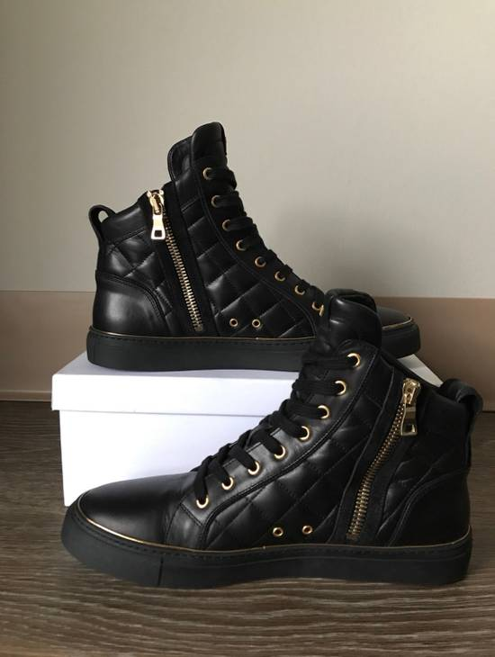 Balmain Quilted Hi Top Sneakers Size US 11 / EU 44