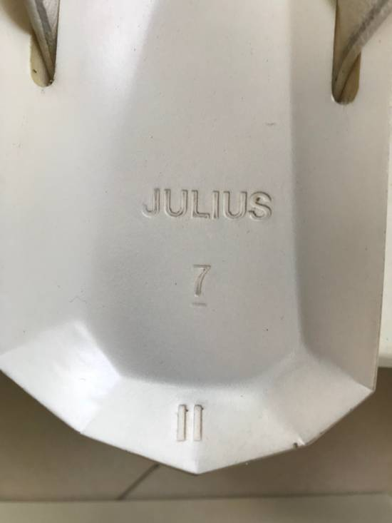 Julius SS 15 white Hexagonal shape slippers Size US 10.5 / EU 43-44 - 3