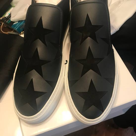 Givenchy NEW Givenchy Black Leather Star Mid-Top Slip-On sneakers Size US 9 / EU 42 - 1