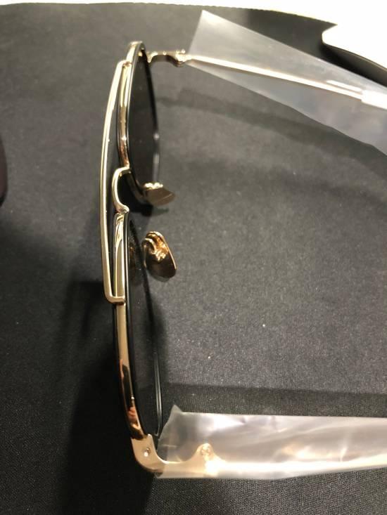 Thom Browne TB-800 14K Gold Black Dark Grey Sunglasses Size ONE SIZE - 6