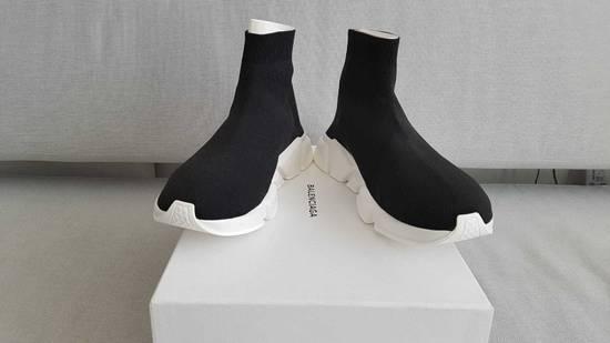 dc7f844dd2ba ... Balenciaga BALENCIAGA Balenciaga Speed Trainer Black White STYLE 458653 -W05G0-1000 Size US 10 ...