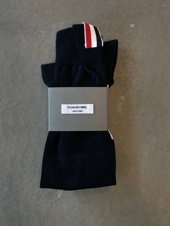 Thom Browne **LAST DROP** Ribbed Knee High Sock W/ 4 Bar Stripe Size ONE SIZE - 2