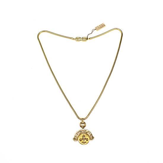 """Givenchy 31"""" Gold Fleur de Lis Pendant Chain Necklace NWT Size ONE SIZE"""