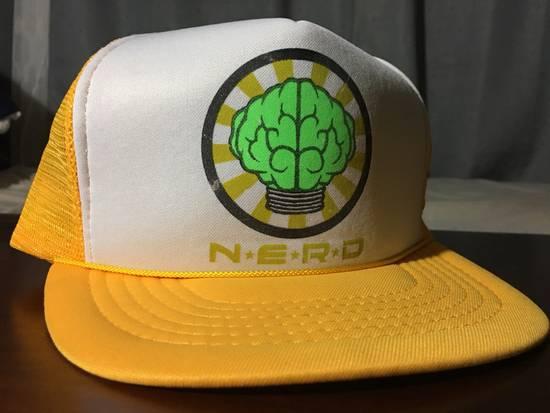 Pharrell Vintage N*E*R*D Gold/White Trucker Hat (2003) Size ONE SIZE