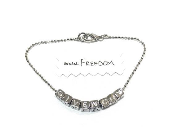 Givenchy Silver Spellout Bracelet Size ONE SIZE - 1