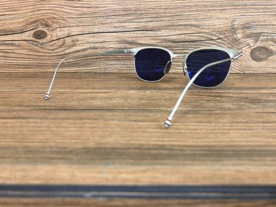 Thom Browne Brand New Thom Browne TB-104 B Satin Silver Sunglasses Size ONE SIZE - 3